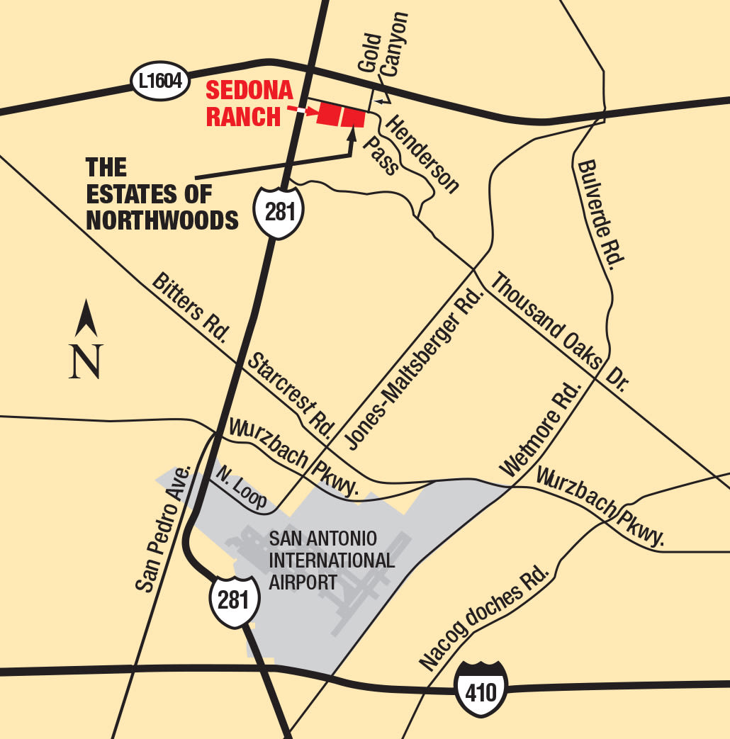 Map of Sedona Ranch Apartments