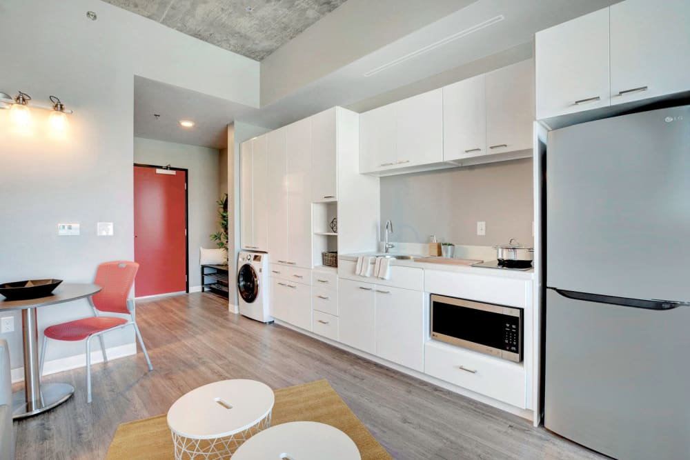 Updated kitchen at the yoU in Las Vegas, Nevada