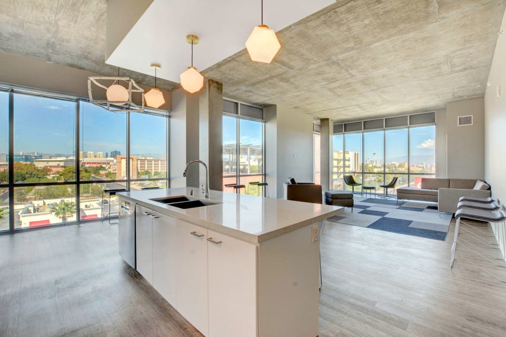 Open floor plan at the yoU in Las Vegas, Nevada