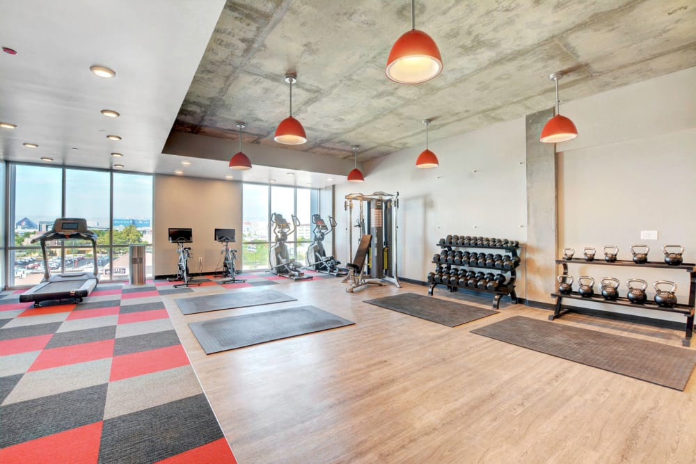 Fitness center at the yoU in Las Vegas, Nevada