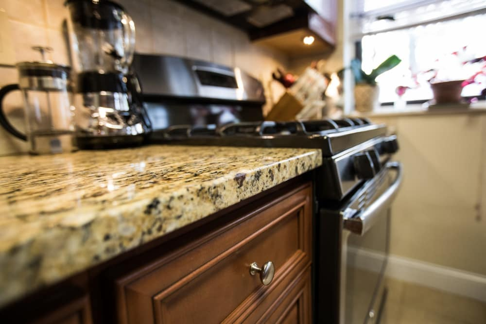 Beautiful counter tops and appliances at Englewood Village