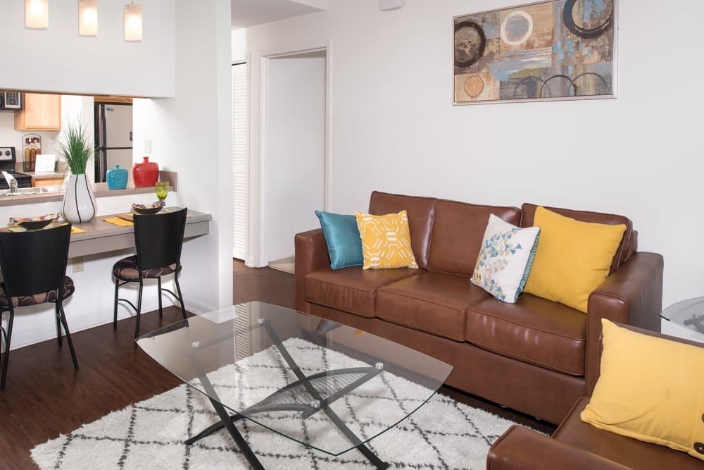 Spacious living room at Legacy Student Living in Tallahassee