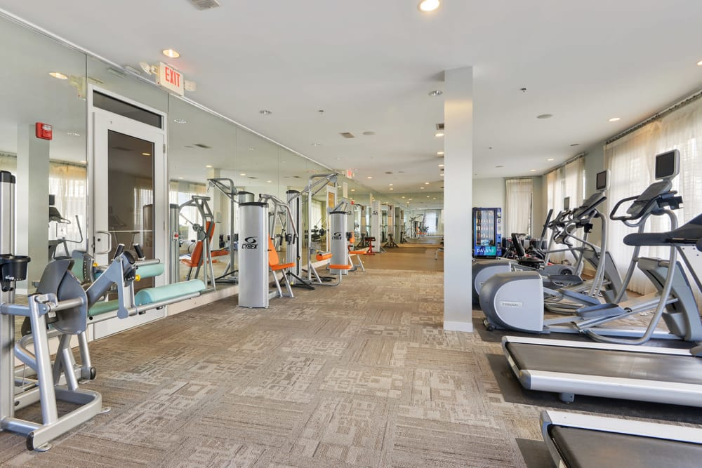 Fitness center at the Optimist Lofts in Atlanta