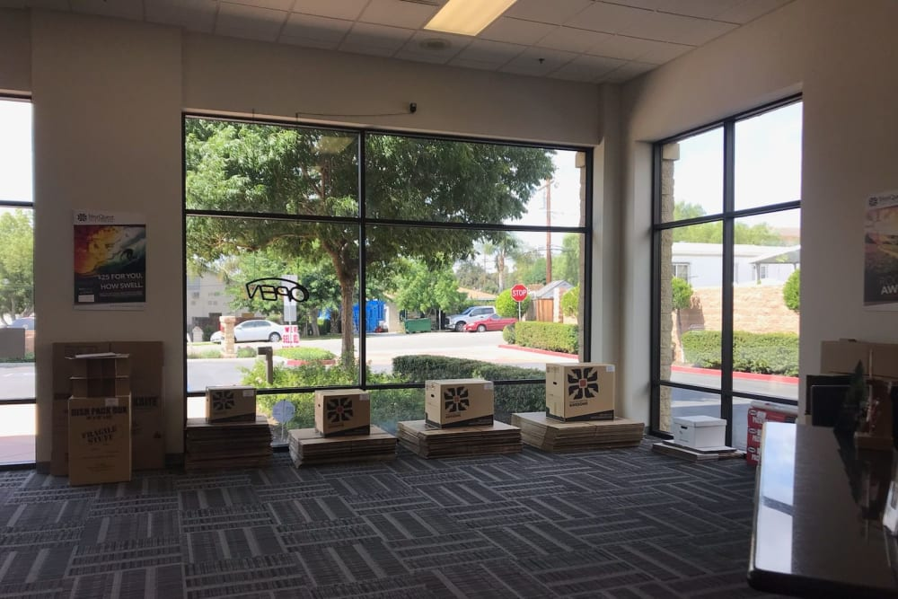 Interior self storage hallways in Thousand Oaks