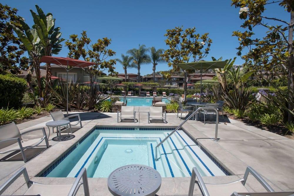 Resort-style spa at Alicante Apartment Homes in Aliso Viejo, California