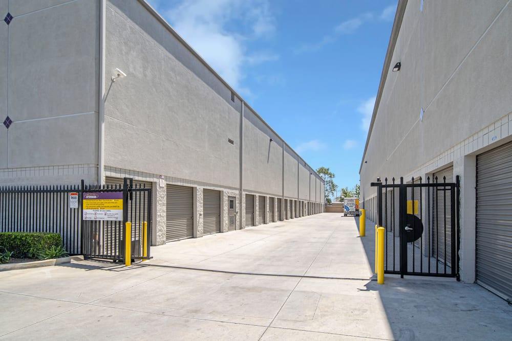 Gated access to outdoor units at El Monte Storage in El Monte, California