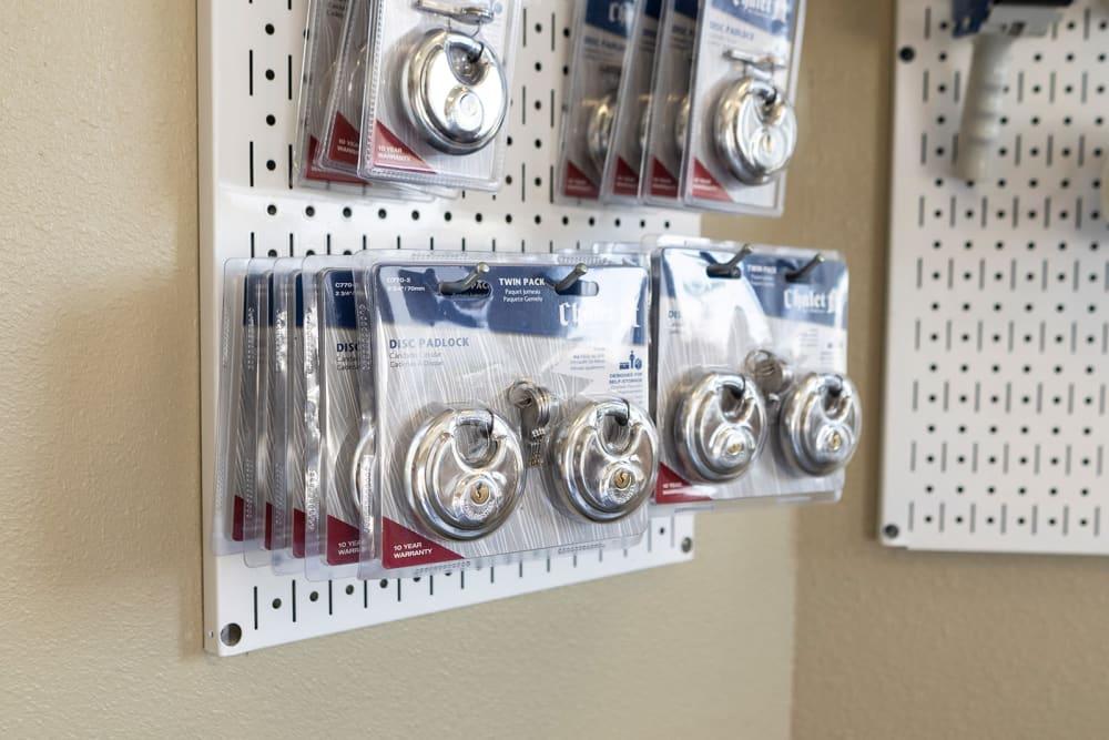 Storage locks available at El Monte Storage in El Monte, California