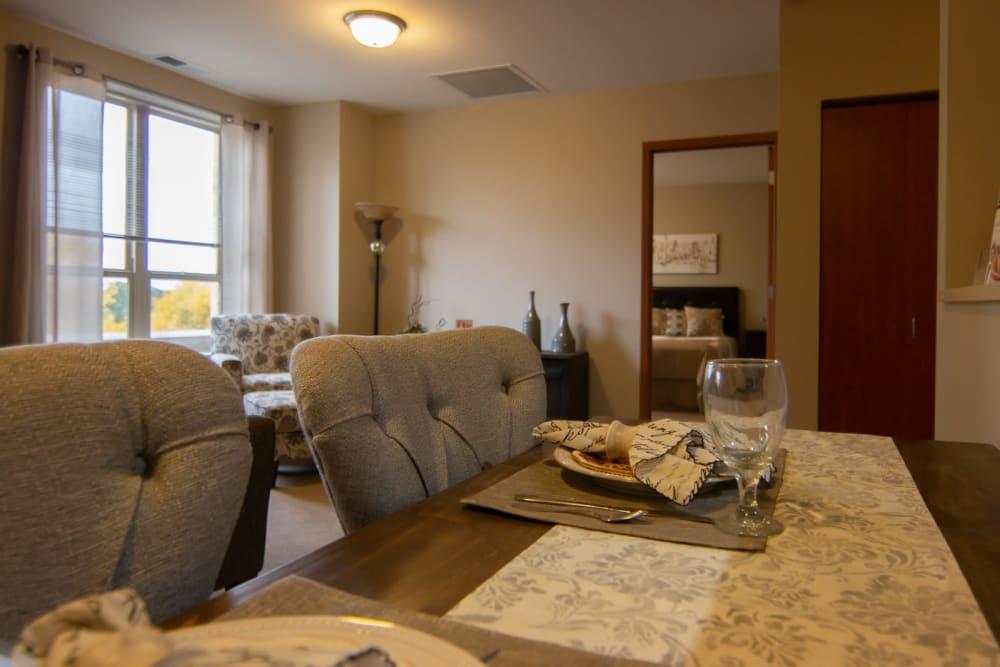 Resident apartment at Aurora on France in Edina, Minnesota.