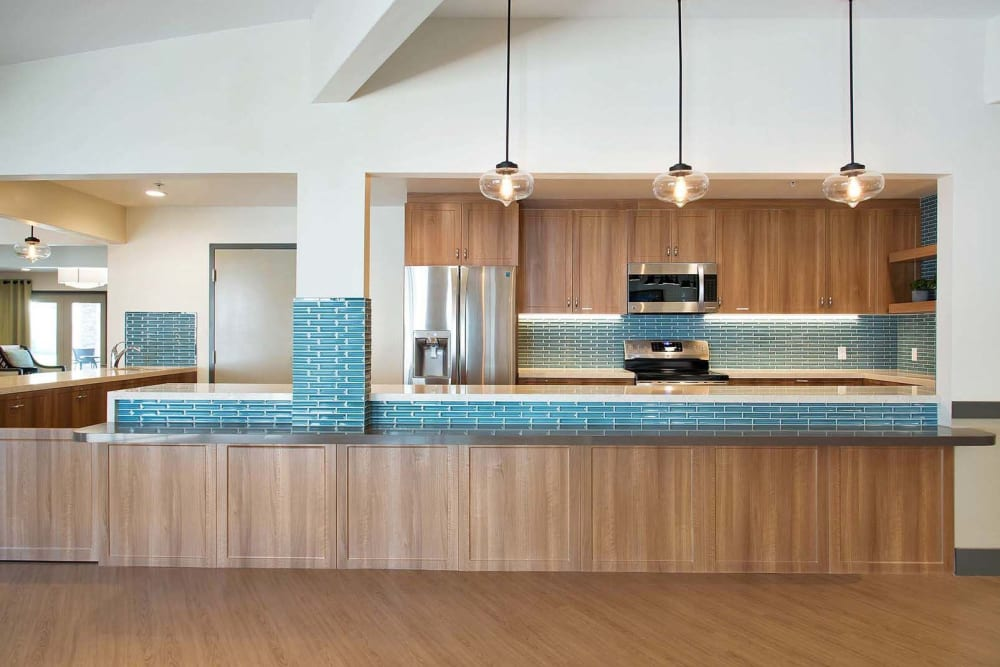 Community kitchen at Madonna Gardens in Salinas, California.