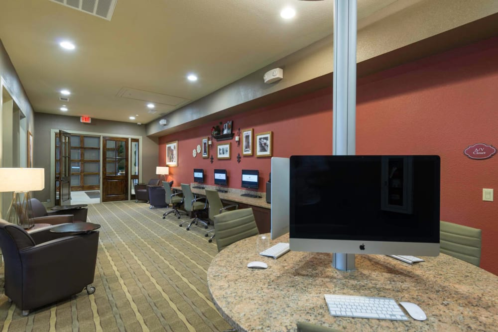 Business center at Arrabella in Houston, Texas
