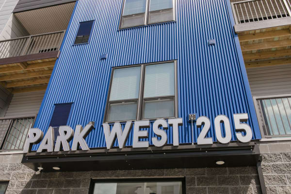 Entrance to Park West 205 Apartment Homes in Pittsburgh, Pennsylvania