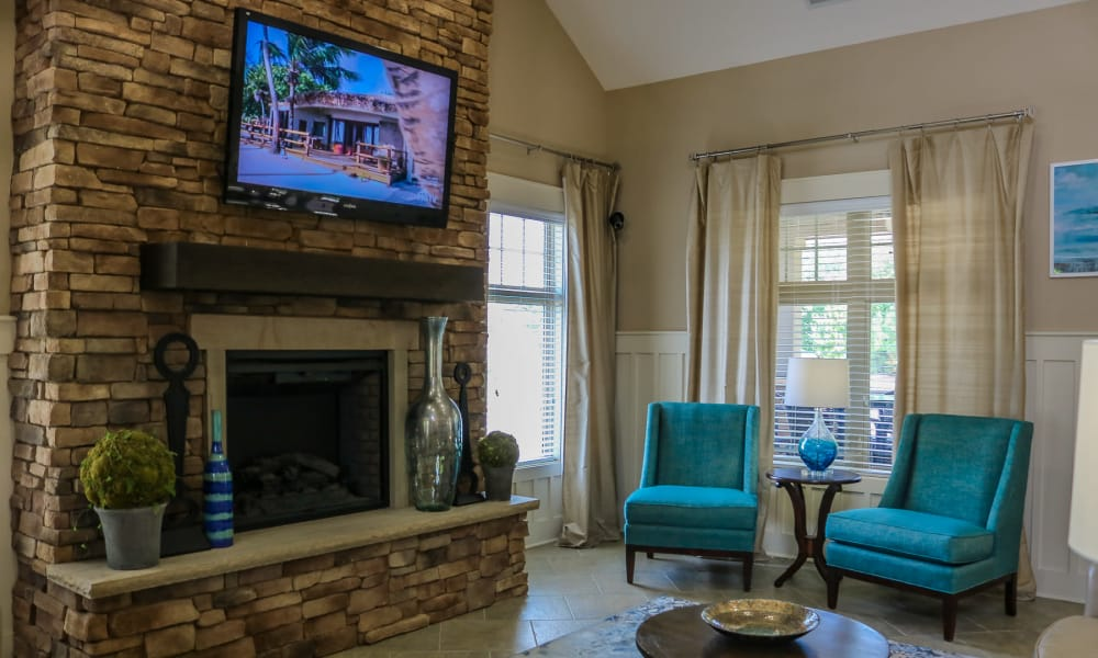 Spacious living room at Townhomes at Chapel Watch Village in Chapel Hill, North Carolina