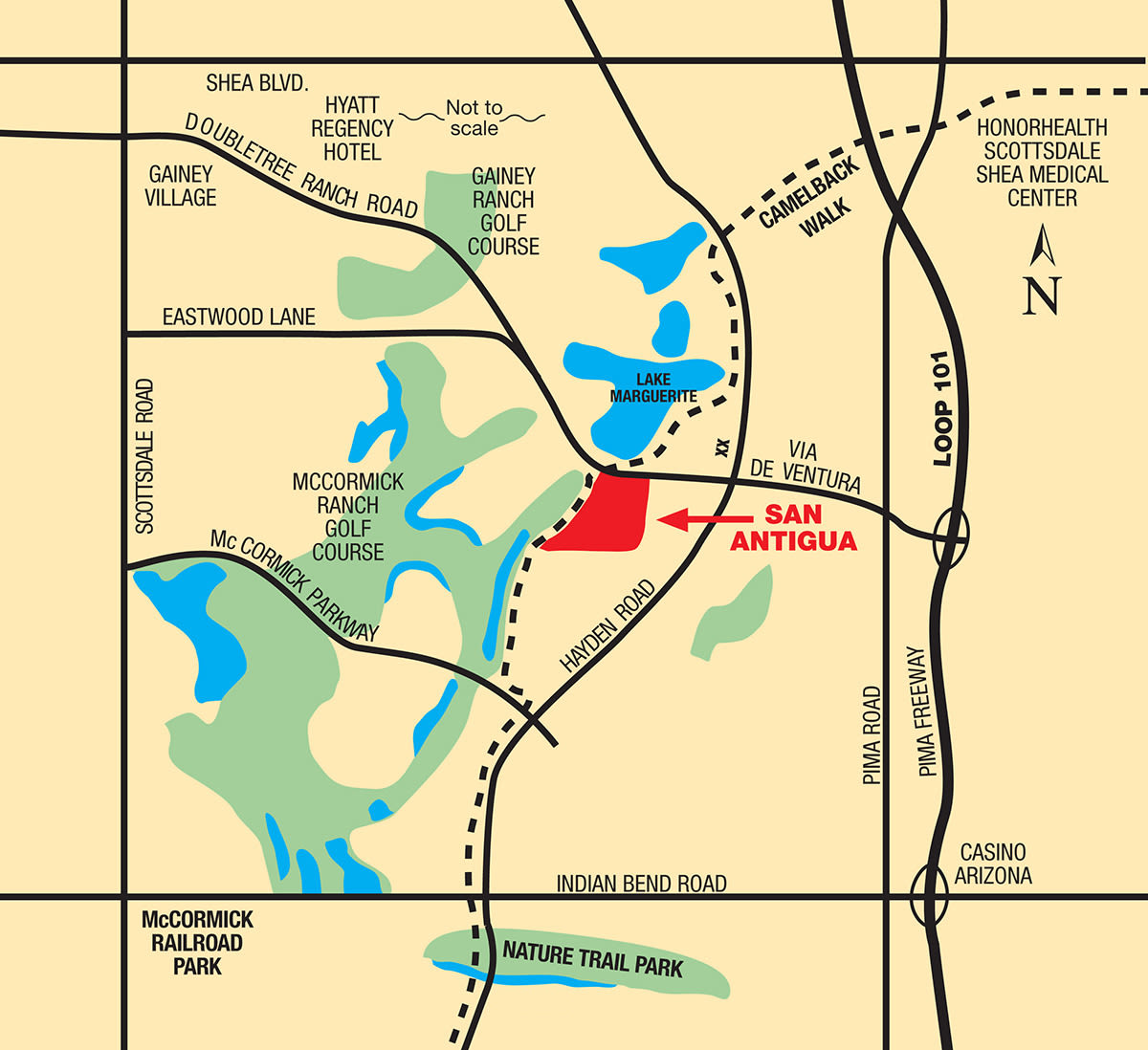 Map of San Antigua in McCormick Ranch