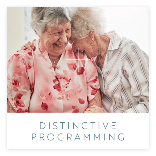 View our distinctive programs offered at Estancia Senior Living in Fallbrook, California
