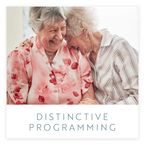 View our programs offered at Estancia Senior Living in Fallbrook, California