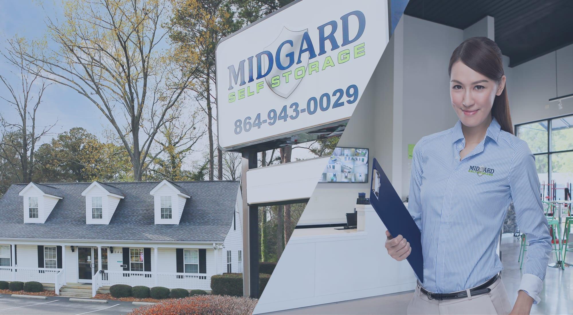 Self storage at Midgard Self Storage in Greenwood, South Carolina