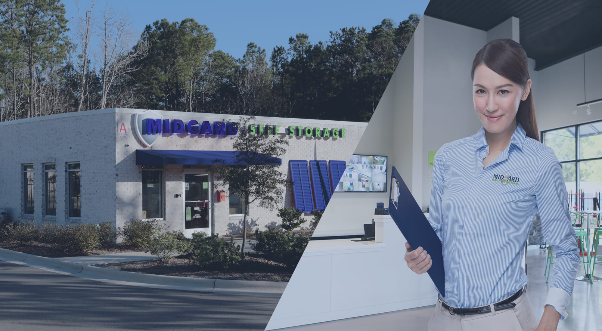 Self storage at Midgard Self Storage in Wilmington, North Carolina