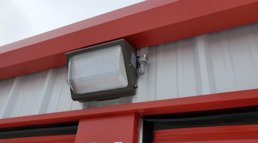 Bright outdoor lighting at KO Storage of Austin in Austin, Minnesota