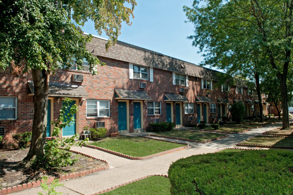 Front entrance to your new home at Bishop - Stratford Court Apartments in Stratford, New Jersey
