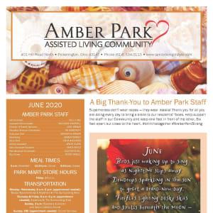 June newsletter at Amber Park in Pickerington, Ohio