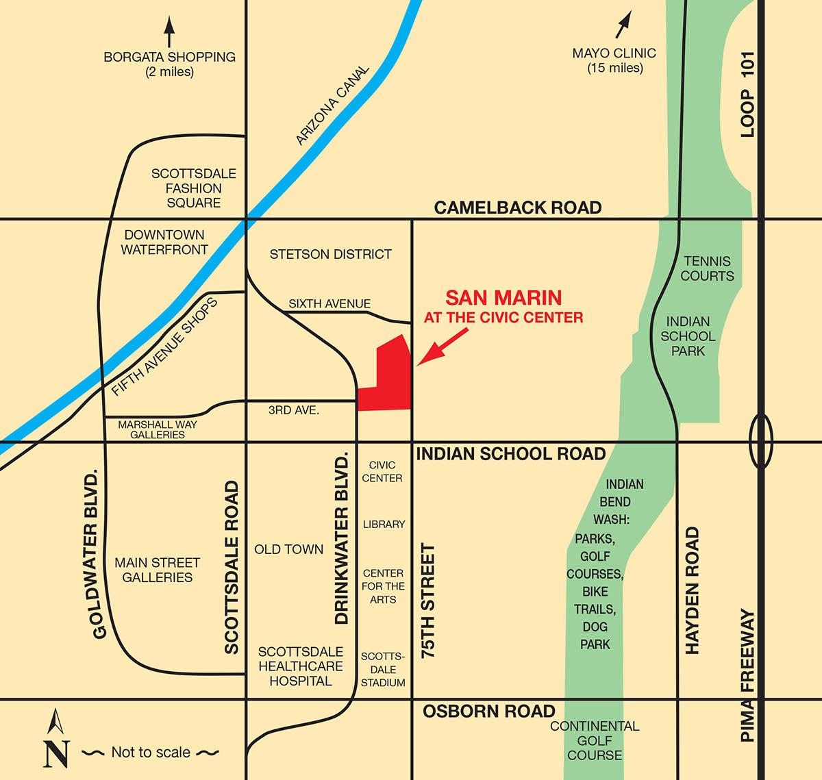 Map of San Marin at the Civic Center