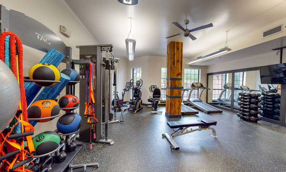 Modern fitness center at Bellrock Bishop Arts in Dallas, Texas
