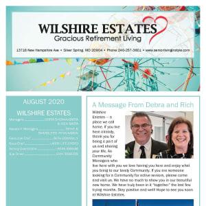 August Wilshire Estates Gracious Retirement Living Newsletter