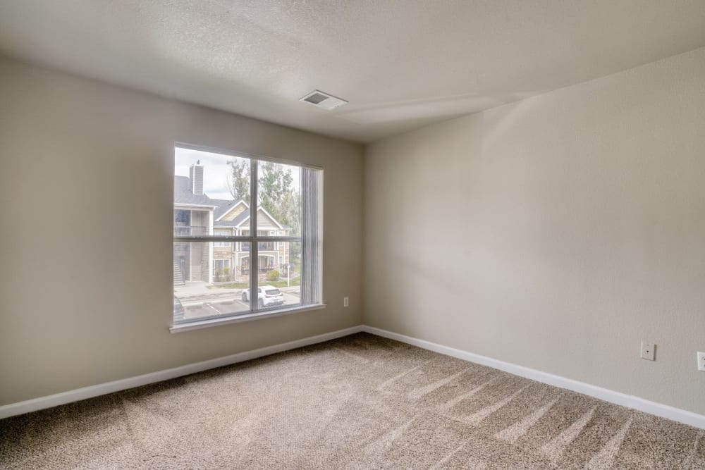 vacant bedroom at The Pines at Castle Rock Apartments in Castle Rock, Colorado