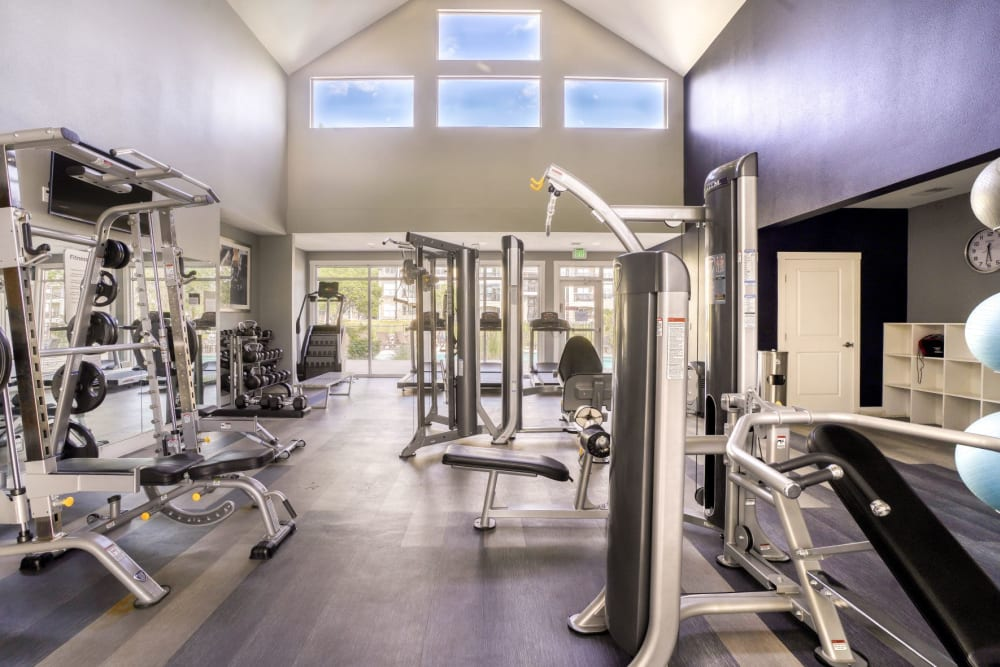 Fitness Center at The Pines at Castle Rock Apartments in Castle Rock, Colorado