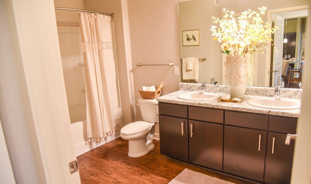 Upgraded bathroom at Springs at Port Charlotte in Port Charlotte