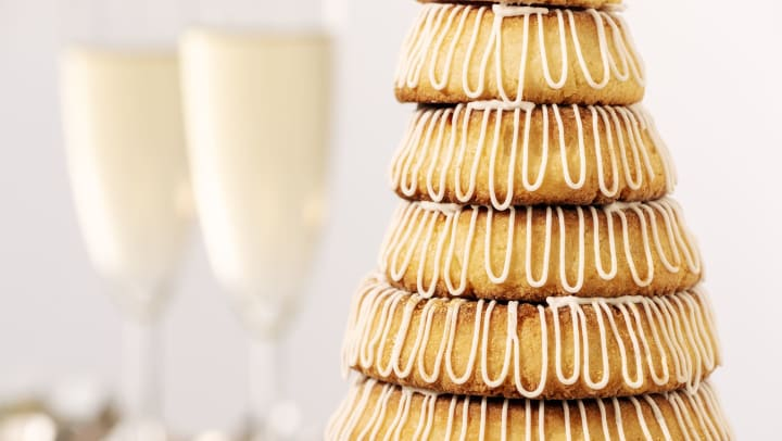Kransekake is an eye catching traditional Scandinavian wreath cake that's a holiday favorite in Minneapolis and the Upper Midwest.