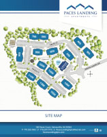 Site map for Paces Landing Apartments in Gainesville, Georgia