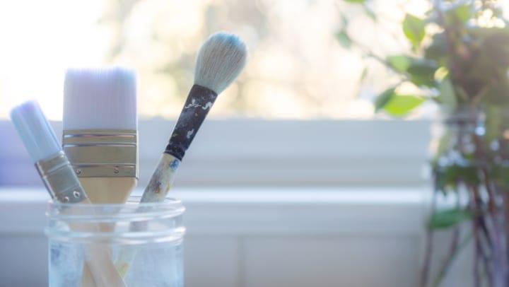 Paintbrushes at Sundance Creek in Midland, Texas