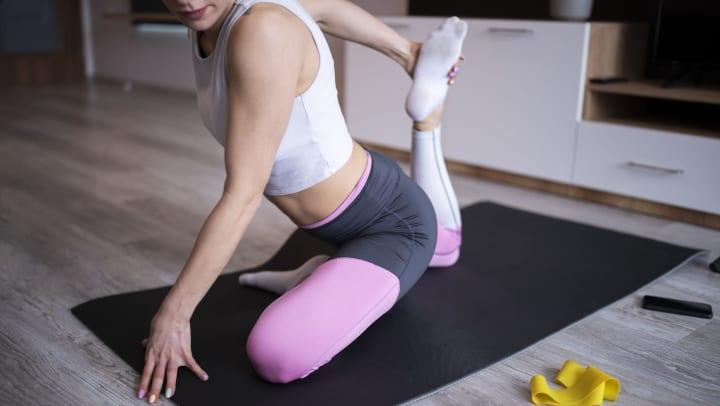 Woman doing yoga at The Slate in Savannah, Georgia