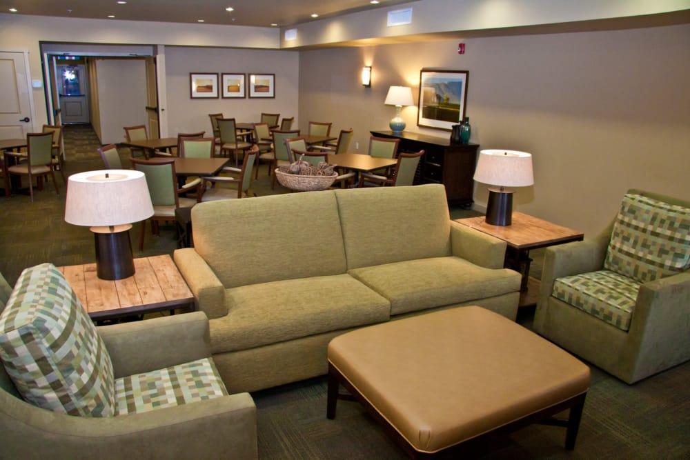 Comfy living room at Affinity At Walla Walla in Washington