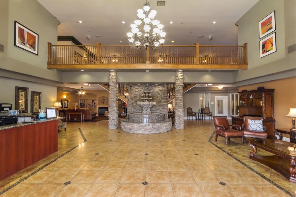 lobby at Merrill Gardens at Siena Hills