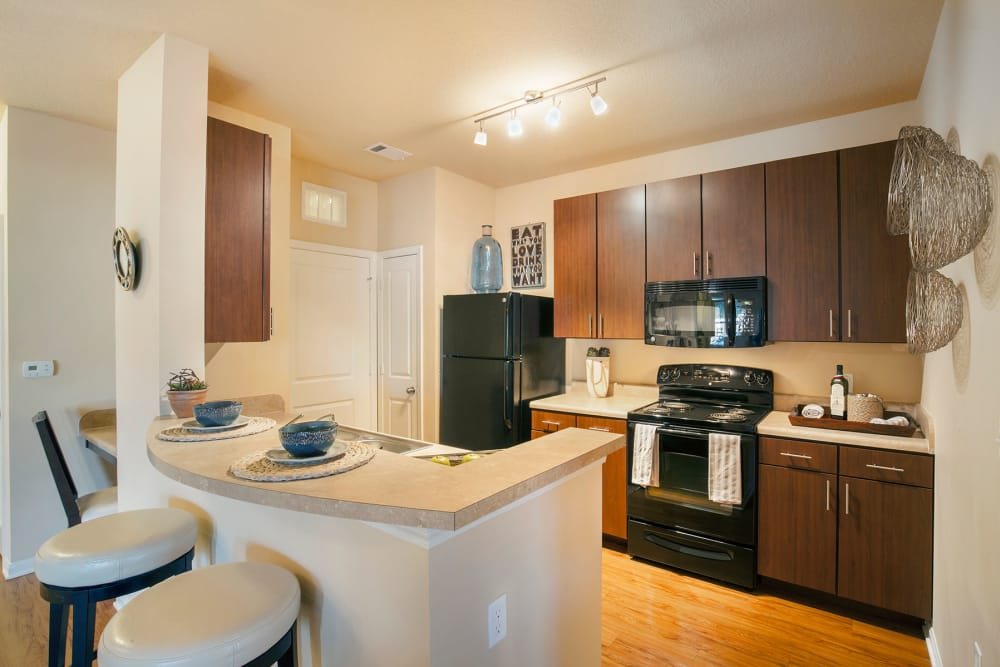 Kitchen at Integra Hills Apartment Homes in Ooltewah, TN