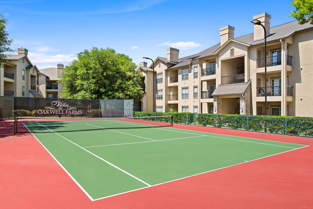 Enjoy Apartments with a Tennis Court at Villas at Oakwell Farms in San Antonio, Texas