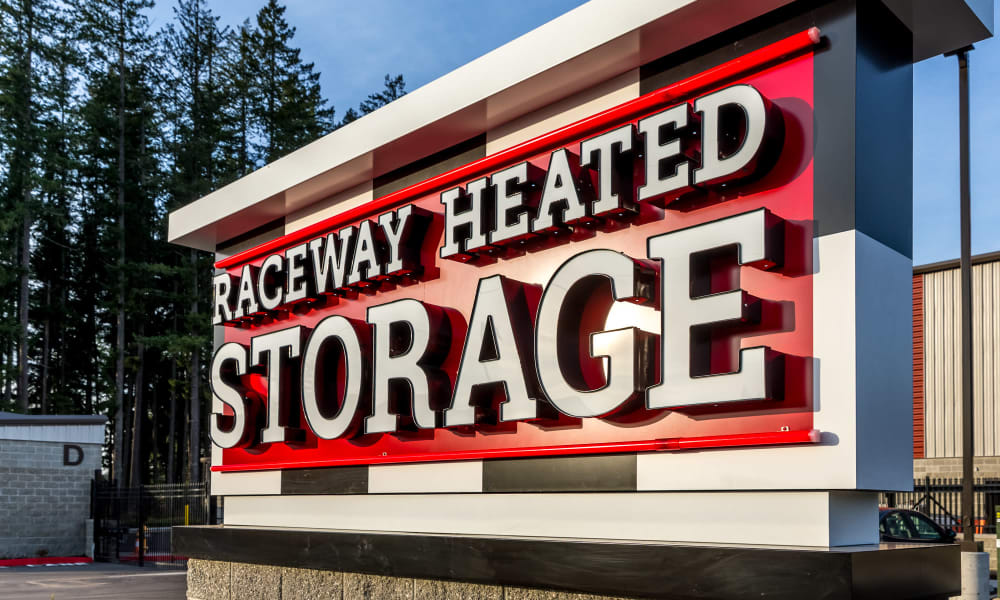 Raceway Heated Storage - Covington in Covington, Washington Exterior sign