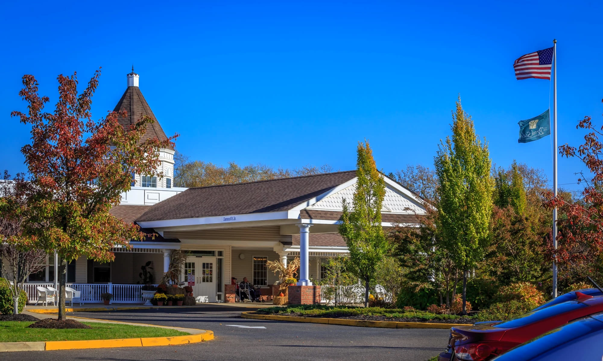 Exterior view of The Brookside senior living in Freehold, NJ