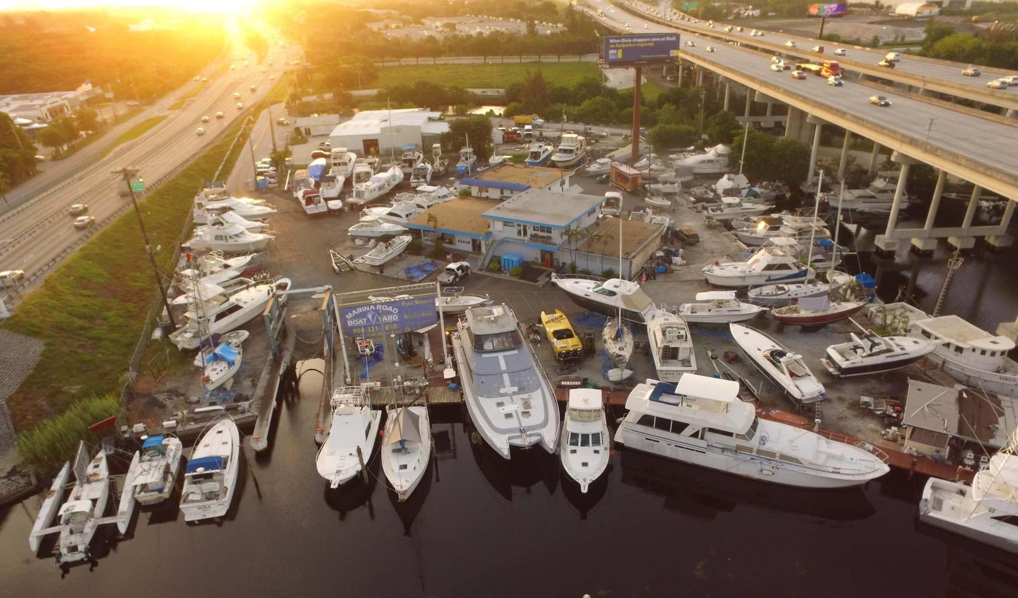 Marina Road Boat Yard marinas in Ft. Lauderdale, Florida