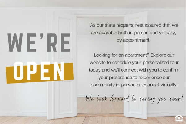 We're open by appointment only