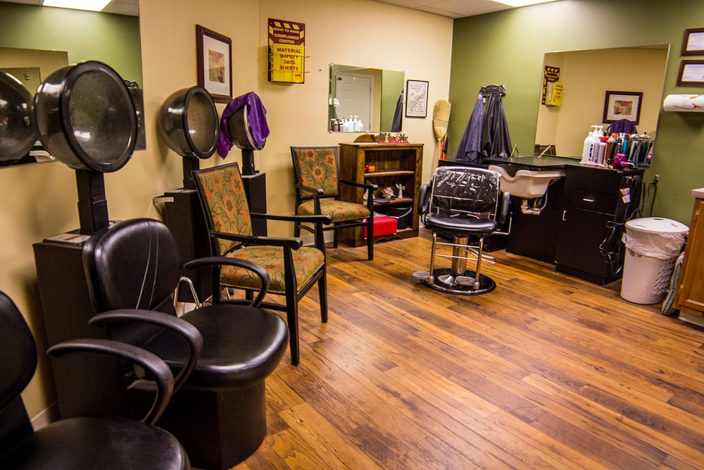 An onsite hair salon at The Village at Bellevue in Nashville, Tennessee