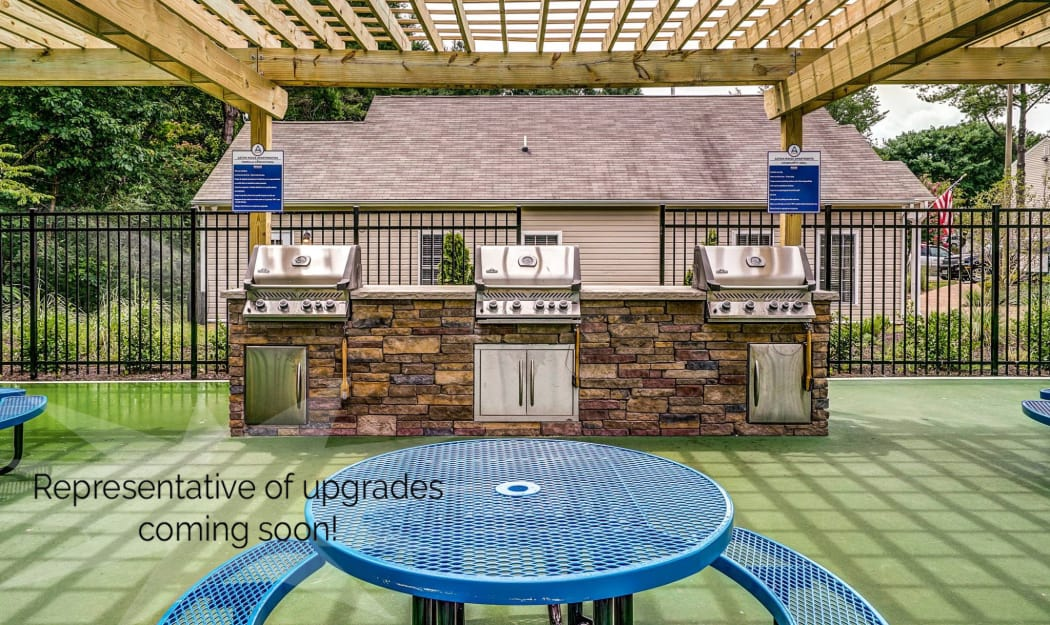 Outdoor grill at The Residences at Forest Grove in Newport News, Virginia