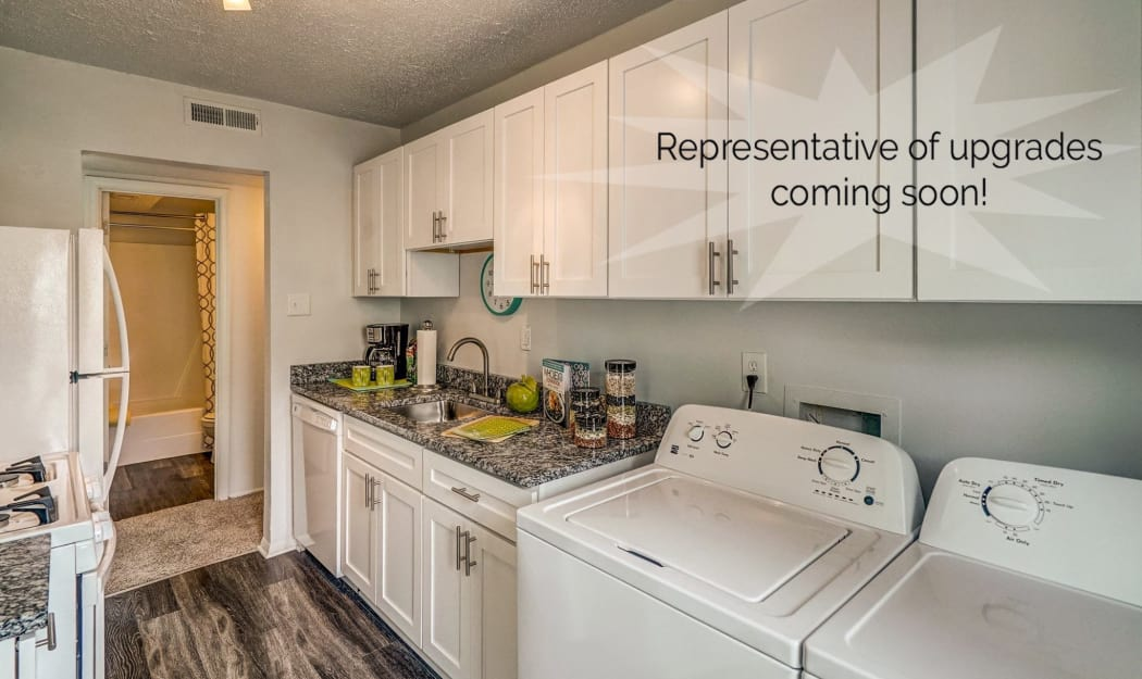 Laundry room example at The Residences at Forest Grove in Newport News, Virginia