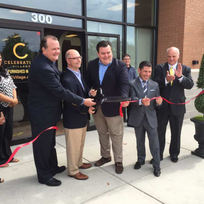 Grand opening ribbon cutting ceremony at AgeWell Living