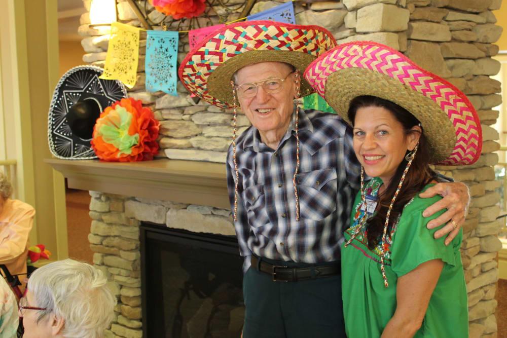 Cinco de Mayo party at The Oaks, A Merrill Gardens Community in Gilbert, Arizona.