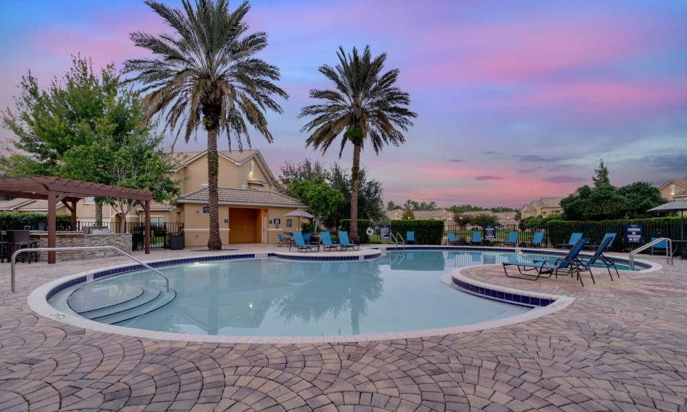 Sparkling pool at Palms at World Gateway in Orlando, Florida