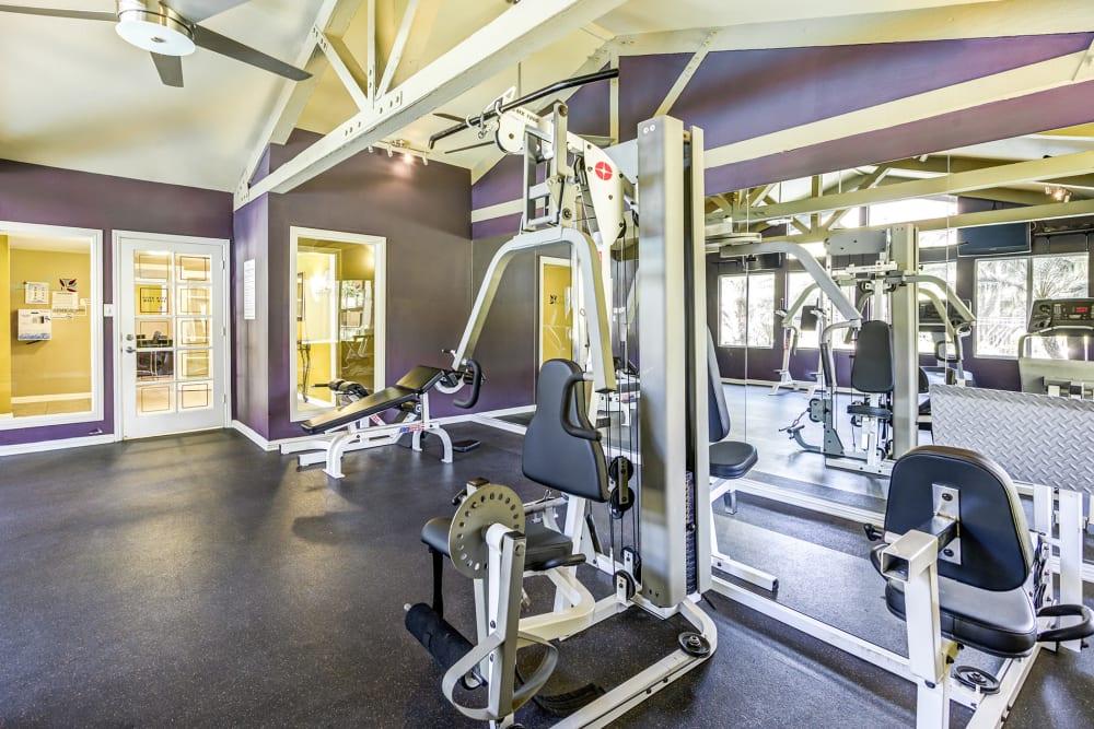 Spacious fitness center at Olive Ridge in Pomona, California