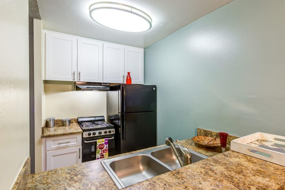 Model kitchen at Olive Ridge in Pomona, California